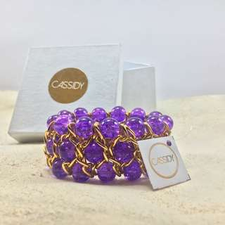Candy Cuff - Purple and Gold
