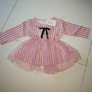 (Clearance) Long sleeve baby dress