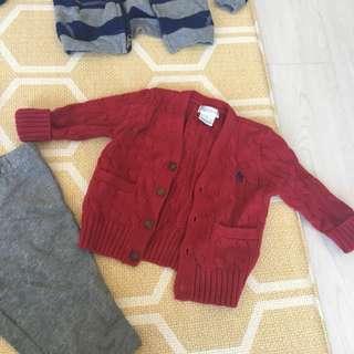 Polo Ralph Lauren Tshirt sweater cardigan 6-12mths