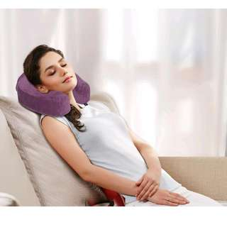 Brand New Sealed Blue Ogawa Memory Foam Luxurious Travel Pillow Cushion Touch Push Neck Support