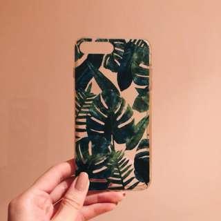 Palm tree leaf silicon iphone 8 plus + case