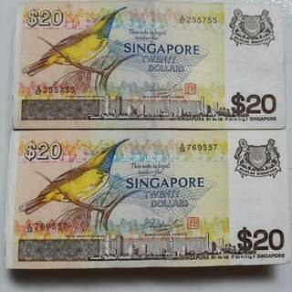 Bird Series $20 dollars bank note