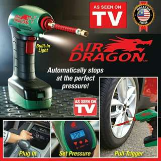 Air Dragon Portble Air compressor inflator emergency Pump Auto Stop
