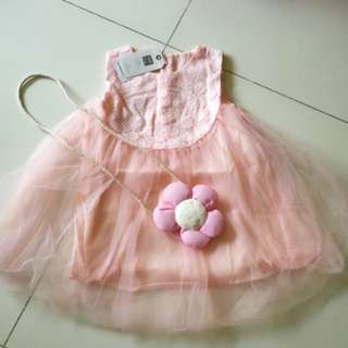 (Clearance) Sweet pink Girl Dress