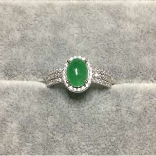 AUTHENTIC Emerald GemStone Rings ~ 925 Silver ~ Zirconia