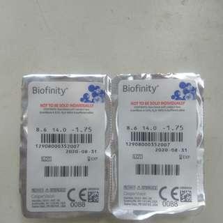 BioInfinity Contact Lens 1.75
