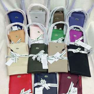 3 Lacoste Bag for only 2600php