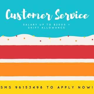 Customer Service Officer | Central | $2,000 | 3 months