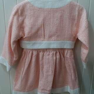 小熟女粉紅套裝