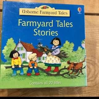 Usborne Farmyard readers complete set