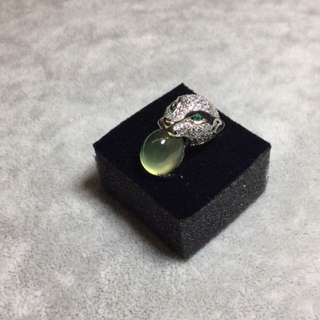 AUTHENTIC Prenhite GemStone Rings ~ 925 Silver ~ Zirconia ~ With CERT