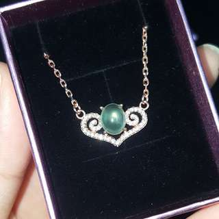 AUTHENTIC Prenhite GemStone Necklaces ~ 925 Silver ~ Zirconia