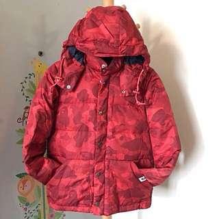 A Bathing Ape Bape camo classic down jacket 女裝 迷彩 紅色 羽絨 外套