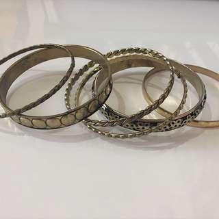 [TAKE ALL] Assorted Alumunium Bracelets (4) (Gelang)