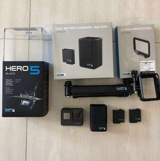 GoPro Hero 5 Black with accessories!