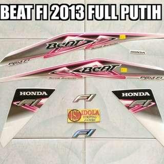 Striping Beat FI 2013 Full Putih