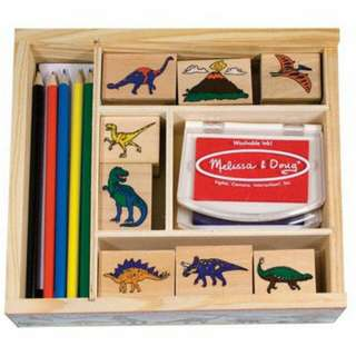 Melissa and Doug Dino stamp