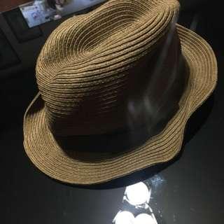 Brown beach hat