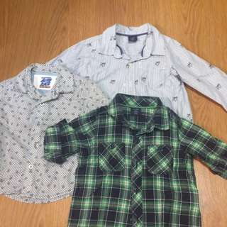 Gap long sleeves 12-18mos but can fit up to 2yo. Gingersnaps long sleeves 6mos but can fit up to 1yo.