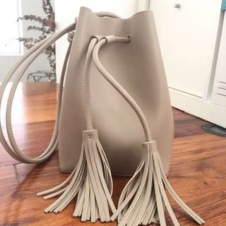 Charles & Keith Tasseled Bucket Bag