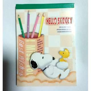 Hello Snoopy Design Letter Sheets