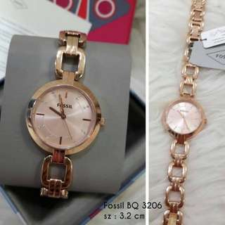 Jam fossil rose Gold tone