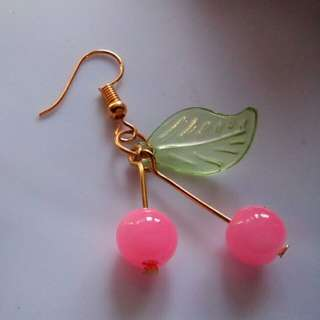 🍒Pink Cherry Drop Earrings