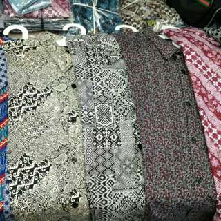 Kemeja batik big size 3xl-6xl import