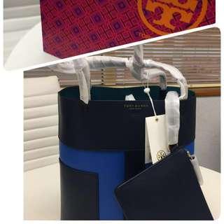 Tory Burch Block-Color Blocked Pebbled Hobo 100%真品  附有細袋、防塵袋及送禮包裝