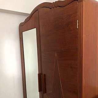 1920s Marquetry 2 Doors Wardrobe