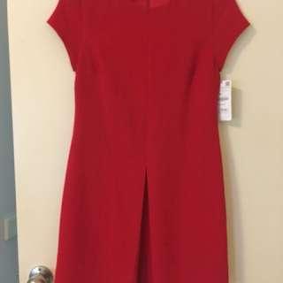 Red cap sleeve mini dress