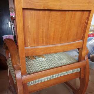 Antique SOLID Burmese Teak wood reclining chair