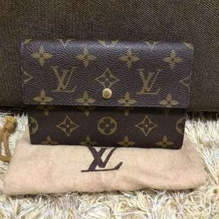 Authentic LV Wallet Monogram Dustbag