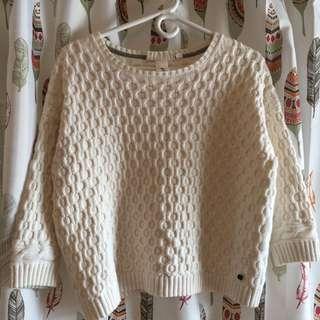 H&M White Sweater S