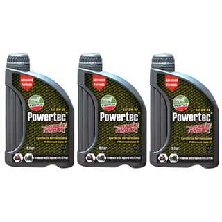 Pertua Powertec Synthetic Performance 4T Motorcycle Engine Oil SAE 15W/40 1L (Bundle of 3)