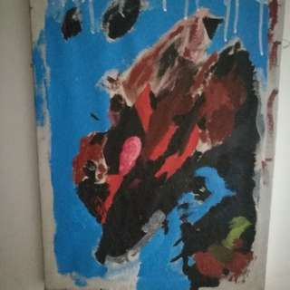 Abstract painting of a bipolar person