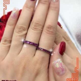 18K金紅寶戒指