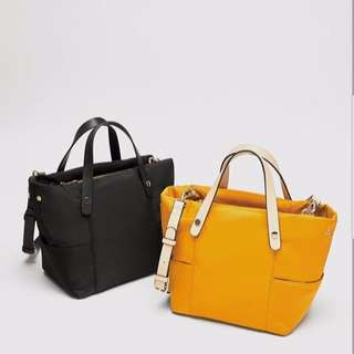 Zara Fabric Tote Nilon Bag