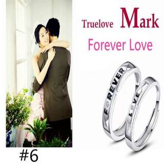 Couples Ring 925 Silver Plated Platinum