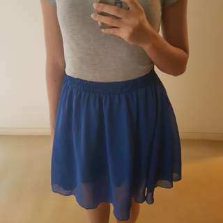 Royal Blue Short Layered Tutu Skirt
