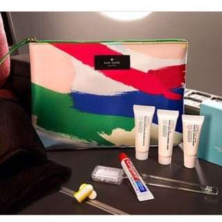 Kate Spade travel gift set from Qantas bussiness class