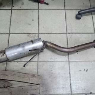 "Exhaust straight flow inlet 1.6"" pipe 1.7"""