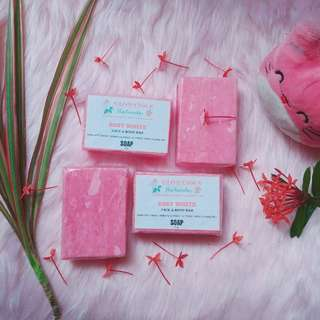 Rosy White Glow Beauty Organic Bar for Pinkish White Glow by Glowcious Skin Cosmetics