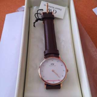 英國代購  DANIEL WELLINGTON CLASSY BRISTOL SILVER 26MM WATCH