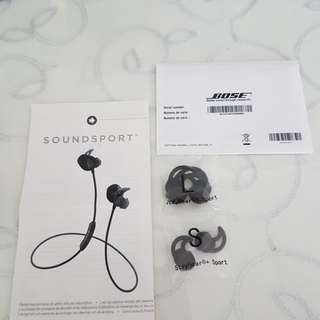 Bose earpiece replacement. Size L & S only.
