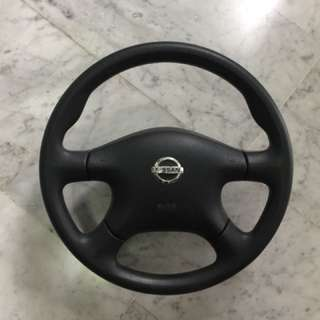 Original 2005, 2006, 2007 Nissan sunny Steering wheel with centre airbag