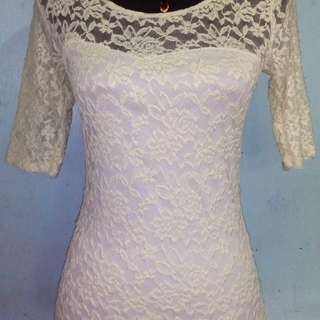 Dirty white Lace top