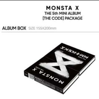 Monsta X album The Code with Poster