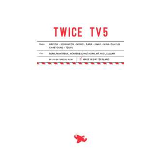 [PREORDER] TWICE TV5 - TWICE in Switzerland DVD