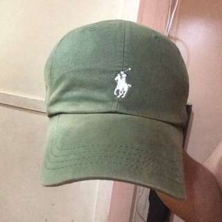 POLO RL LEATHER STRAP DAD HAT